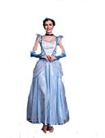 Outro Fantasias de Cosplay Azul Filme Fantasias de Cosplay Sólido Vestido / Peça para Cabeça Poliéster Feminino