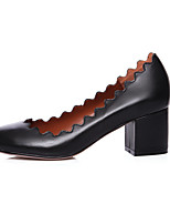 Women's Heels Spring / Summer / Fall / Winter Comfort Leather Casual Chunky Heel Others Black /
