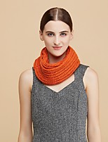 Women Wool ScarfCasual Infinity ScarfWhite / Brown / Yellow / Gray / OrangeSolid