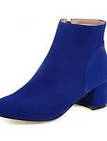 Women's Boots Spring / Fall / Winter Fashion Boots Leatherette / Casual Chunky Heel Others Black / Blue / Khaki Others
