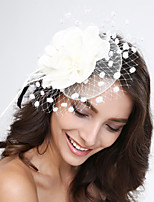 Mulheres Penas / Tule / Rede Capacete-Casamento / Ocasião Especial Fascinador 1 Peça