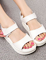 Women's Sandals Summer Platform Leather Casual Platform Others Black / White Others
