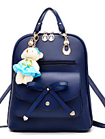 M.Plus Women Fashion Korean Style Faux Leather Backpack