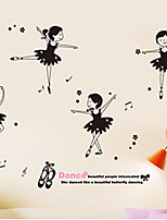 Animais / Botânico / Vida Imóvel Wall Stickers Autocolantes de Aviões para Parede Autocolantes de Parede Decorativos,PVC Material