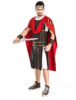 Costumes Guerrier Halloween Rouge / Gris Couleur Pleine Térylène Collant/Combinaison / Plus d'accessoires