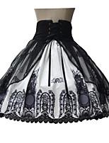 Sweet Lolita Skirt Medium Length Black Lolita Dress Terylene