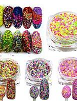 3g Mixed Colors Shining Nail Cheese Glitter Sequins Powder Nail Art Manicure Pigment Beauty Nail Decorations SN09-16