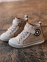 Unisex Sneakers Fall / Winter Flats Leather Casual Flat Heel Others Black / Gray Others