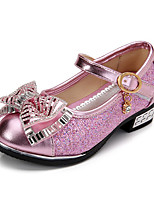 Girl's Boat Shoes Spring / Fall Comfort / Round Toe PU Dress Low Heel Others / Hook & Loop Pink / Silver / Gold Others