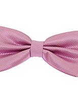 Для мужчин Винтаж / Для вечеринки / Для офиса / На каждый день Бабочка,Полиэстер Жаккард,Розовый Все сезоны