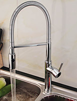 Contemporain / Décoration artistique/Rétro / Modern Pull-out / Pull-down / norme Spout / Grand / Haut Arc VasqueAvec spray démontable /