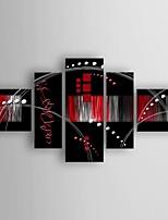 Ручная роспись Абстракция Картины маслом,Modern 5 панелей Холст Hang-роспись маслом For Украшение дома