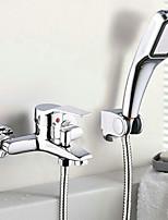 Zeitgenössisch Badewanne & Dusche Breite spary / Handdusche inklusive with  Keramisches Ventil Einzigen Handgriff Zwei Löcher for  Chrom,