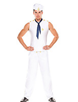 Cosplay Costumes / Party Costume Soldier/Warrior Festival/Holiday Halloween Costumes White Solid Top / Pants / Hat Halloween Male Terylene