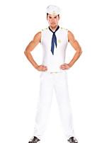 Costumes de Cosplay / Costume de Soirée Soldat/Guerrier Fête / Célébration Déguisement Halloween Blanc Couleur PleineHaut / Pantalon /