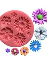 Daisy Flower Fondant Silicone Mold  SM-453