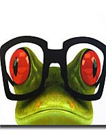 Ручная роспись Абстракция / Животное Картины маслом,Modern 1 панель Холст Hang-роспись маслом For Украшение дома