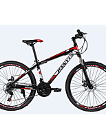 Mountain Bike Cycling 24 Speed 26 Inch/700CC 50mm Men's  Double Disc Brake Suspension Fork Steel Frame Ordinary