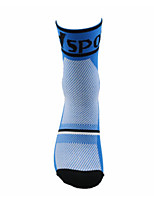 Sports Bike/Cycling Socks Unisex Sleeveless Breathable / Sweat-wicking Cotton Floral / Botanical Blue