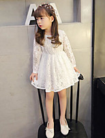 Girl's Casual/Daily Solid Dress / Overall & JumpsuitCotton Spring / Fall White