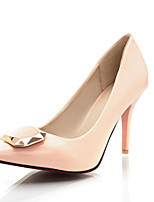 Черный / Розовый / Белый-Женский-Для прогулок / Для праздника / На каждый день-Полиуретан-На шпильке-На каблуках-Обувь на каблуках