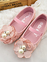 Girl's Flats Fall Ballerina / Round Toe Microfibre Casual Flat Heel Applique Pink / Beige Others