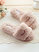 Women's Slippers & Flip-Flops Spring Summer Fall Comfort Cotton Casual Flat Heel Others Pink Gray Others