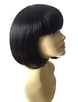 Cheap High Quality Short Straight Bobo Wig Synthetic Hair Wigs For Women Cosplay Short Wig Black