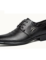 Men's Oxfords Spring / Summer / Fall / Winter Comfort Synthetic Office & Career / Casual Chunky Heel Black