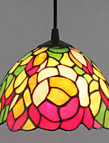 25W Pendant Light   Tiffany / Vintage Painting Feature for Mini Style Metal Entry / Hallway