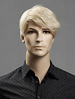 Blonde Color Short Straight Wigs Capless Synthetic Wigs For Men