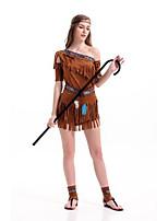Costumes Déguisements thème film & TV Halloween Fuschia Couleur Pleine Térylène Robe / Plus d'accessoires
