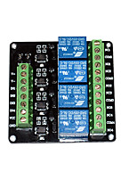 DC 5V Four Channels Relay Breakout with Optoisolator