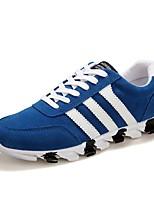 Herren-Sneaker-Lässig / Sportlich-Kunststoff / Stoff-Flacher Absatz-Komfort / Flache Schuhe-Schwarz / Blau / Königsblau