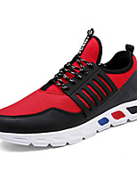 Men's Sneakers Spring / Fall Comfort PU Casual Flat Heel  Black / Red / White Sneaker