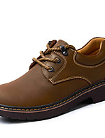 Men's Oxfords Spring / Summer / Fall / Winter Bootie Nappa Leather Outdoor / Casual Flat Heel Black / Brown Sneaker