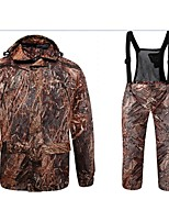Outdoor Sports Autumn Camo Jacket Coat with Trousers for Hunting Fishing Camouflage Hunting Suit Jacket Trousers