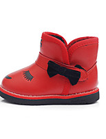 Girl's Boots Fall / Winter Snow Boots / Fashion Boots Leatherette Outdoor / Casual Flat Heel Bowknot