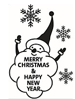 2016 Cute Snowman Snowflake Christmas Showcase Window Glass Sticker Xmas Christmas Party Decoration Store Wallpaper