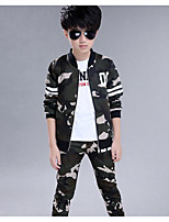Boy's Casual/Daily Patchwork Clothing SetCotton Spring / Fall Green