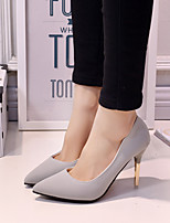 Women's Heels Summer PU Casual Stiletto Heel Others Black Pink Gray Walking
