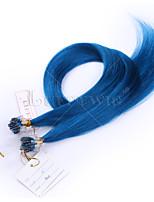 10A TOP Grade Micro Loop Hair extensions Blue Color Straight 8-28inch 100g 100% Brazilian Human Virgin Hair