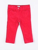 Girl's Casual/Daily Solid Pants,Cotton Fall Red