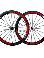 50C-23mm R13 Hub Carbon Fiber 700c Road Bike Clincher Wheelsets 3k Weave Red White Color Wheels with 9/10/11S