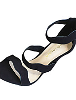 Women's Sandals Summer Sandals Fleece Casual Stiletto Heel Others Black / Yellow / Pink / Gray Others