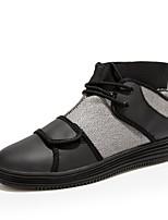 Men's Sneakers Shoes Comfort PU / Tulle Casual Flat Heel Hook & Loop / Lace-up Black / Blue / Gray Running EU39-43