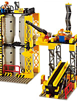 Blocs de Construction Pour cadeau Blocs de Construction Maquette & Jeu de Construction Excavating Machinery Plastique Au-dessus de 6 Jaune