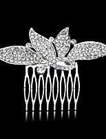 9*6 cm Hair Combs with Butterfly Crystal for Lady Women Wedding Party Headpiece Hair Jewelry