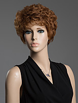Towheaded Short Curly Hair Straight Human Hair Wig