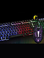 Chief Shadow T6 Luminous Keyboard Mouse Suit Desktop Computer Usb Cable Keyboard